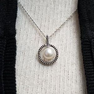 Honora Pearl in Sterling Silver Beaded Circle